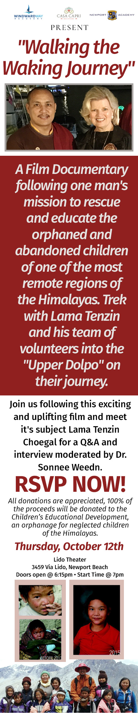 Movie and Q&A with Lama Tenzin & Dr. Sonnee Weedn