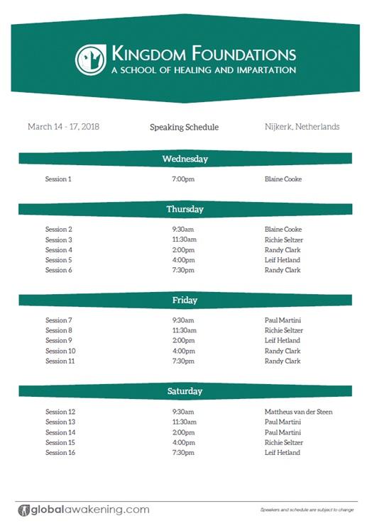 Schema - Schedule