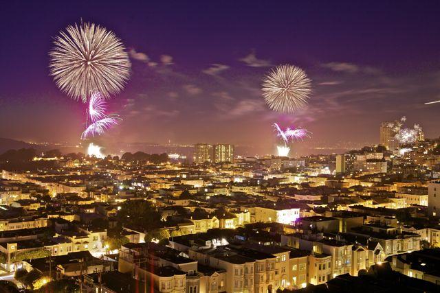 Fireworks over SF