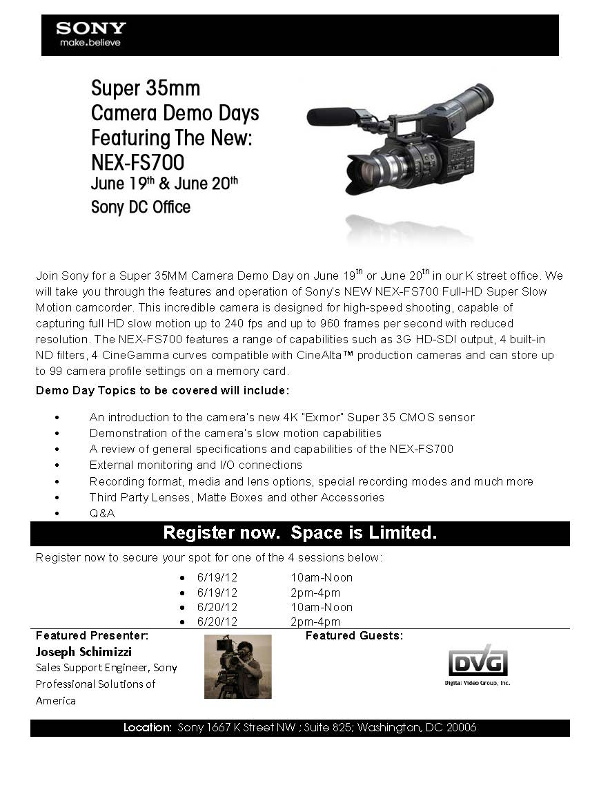Super 35mm demo Days