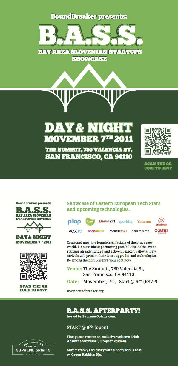 Startups Showcase, Monday, Movember 7th