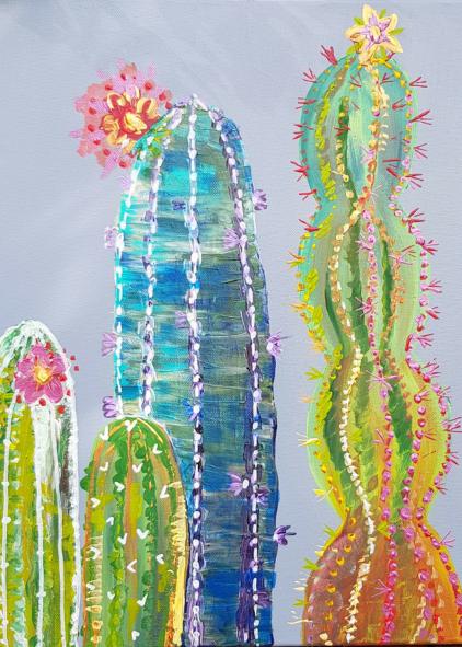 Cacti Painting