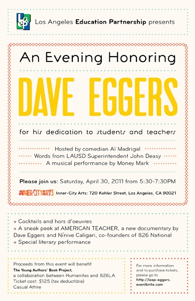 LAEP Honors Dave Eggers