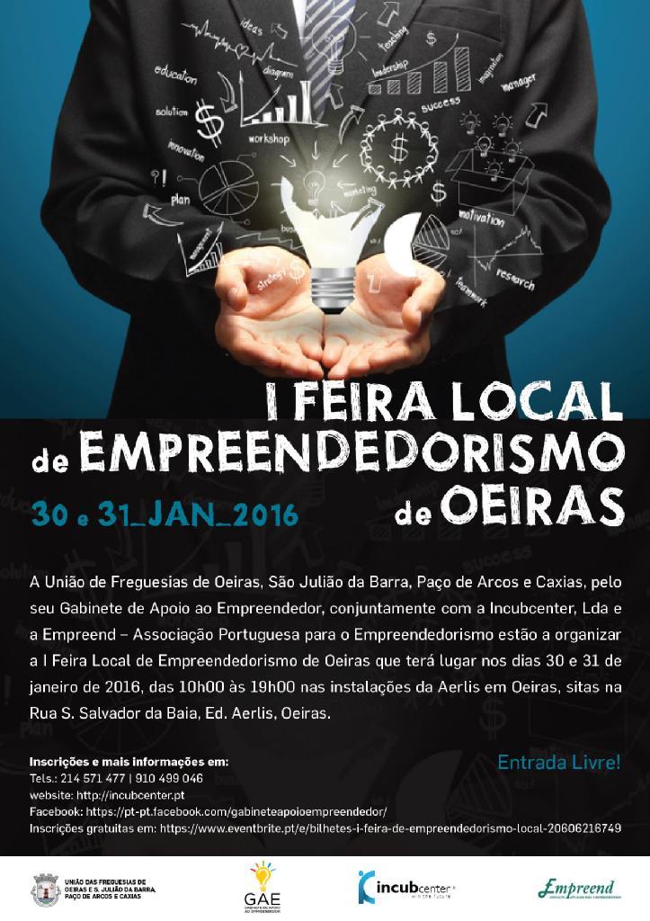 Cartaz da I Feira Local de Empreendedorismo