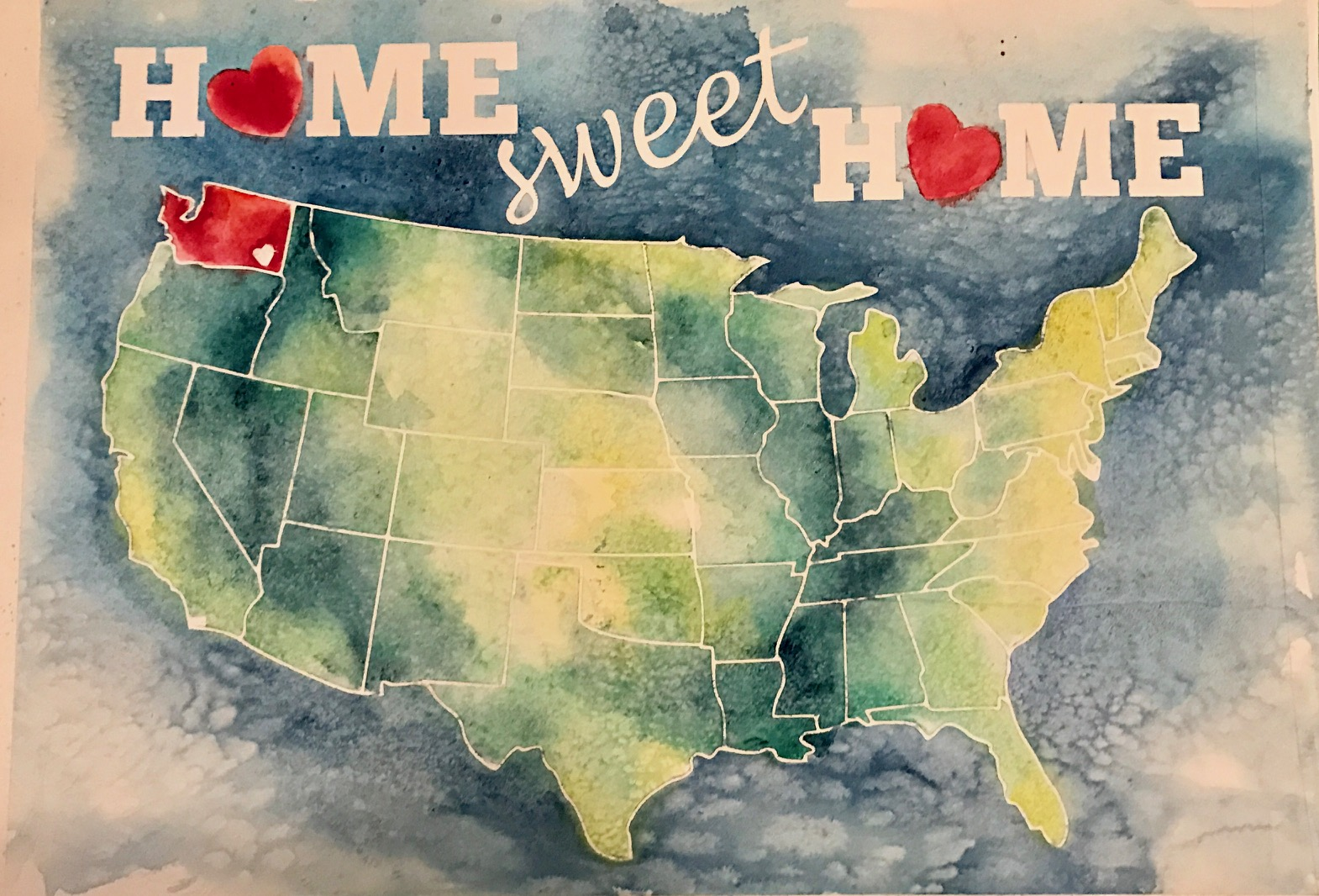 Home sweet home painting - Painting Home Sweet Home Choose Which State S You Highlight And Your Own Colors