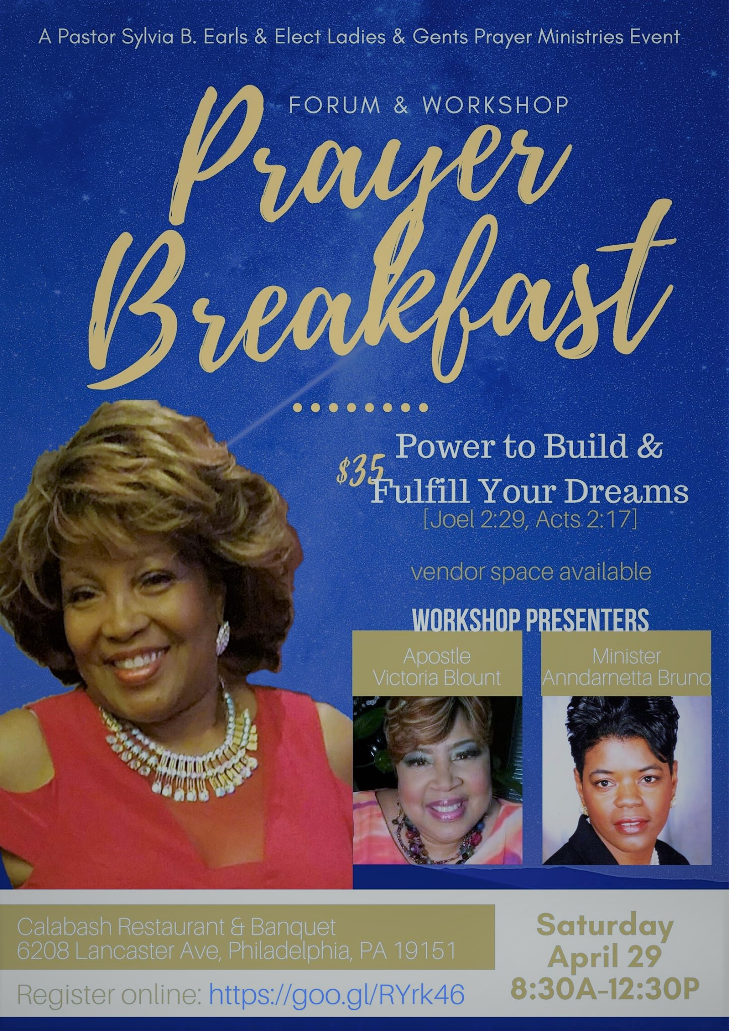 Elect Ladies & Gents PRAYER BREAKFAST FLYER for April 29th