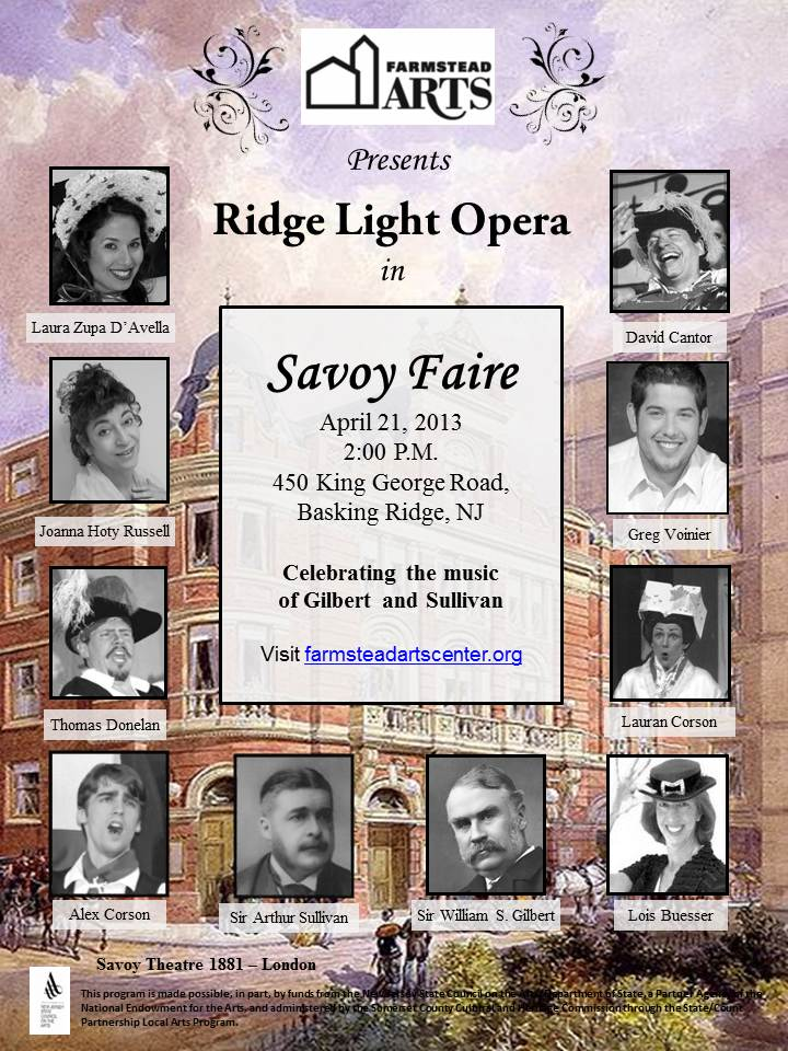 Ridge Light Opera Debuts its Savoy Faire Gilbert and Sullivan Revue at Farmstead Arts