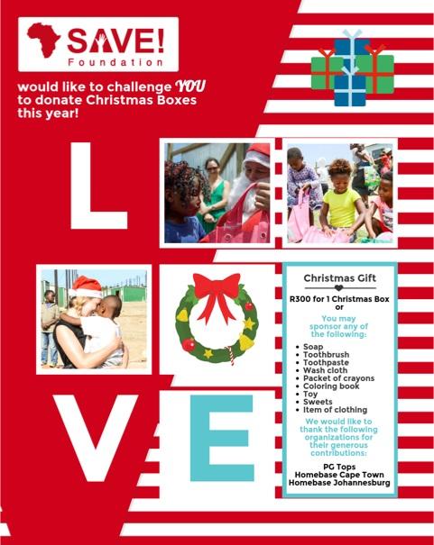 SAVE Christmas Boxes 2017