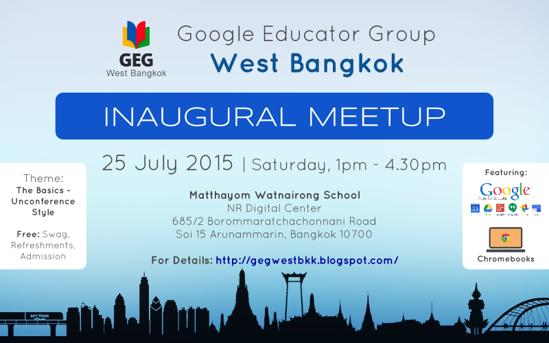 GEG West Bangkok Inaugural Event Poster