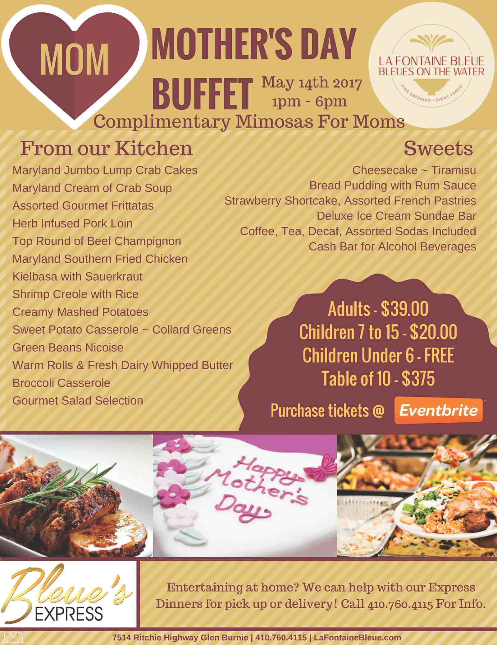 Blog Page 4 of 5 La Fontaine Bleue Catering – Mothers Day Flyer