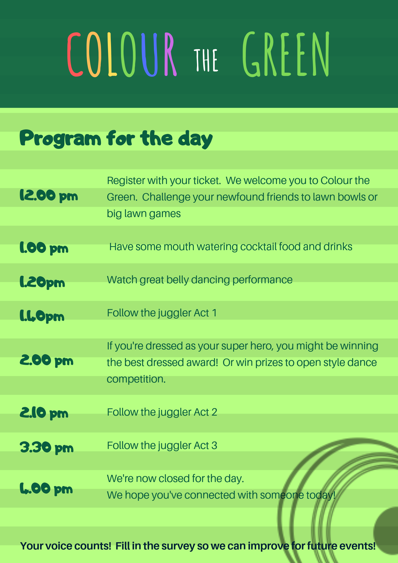 Program for the Day