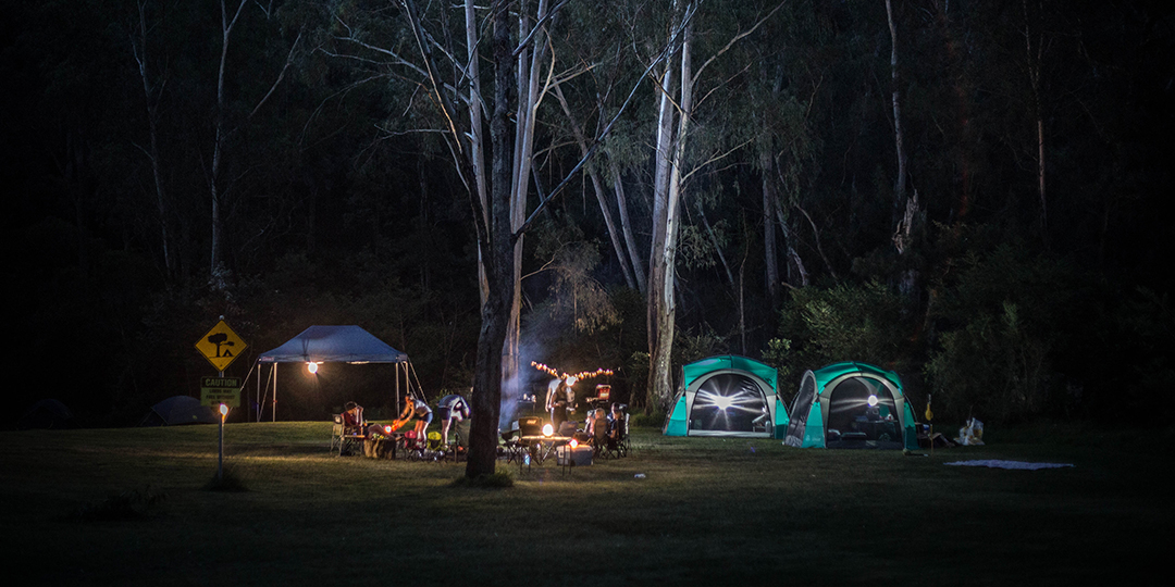 Camp at night