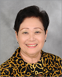 This is a photo of Gloria Shishido, Distinguished Toastmaster, International Director