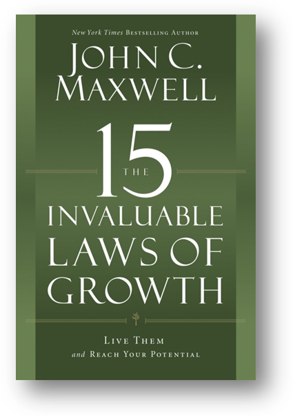 The 15 Invaluable Laws of Growth Book.