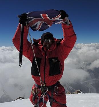 Adrian Hayes on summit of K2