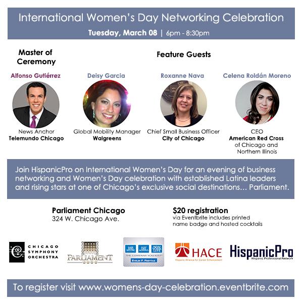 Chicago Women's Day Networking Latina Parliament Telemundo