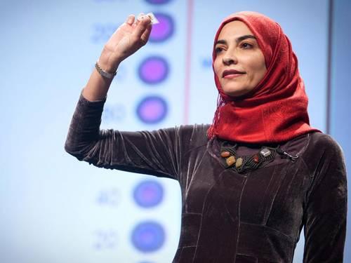 Dr. Hayat Sindi photo by UNESCO press