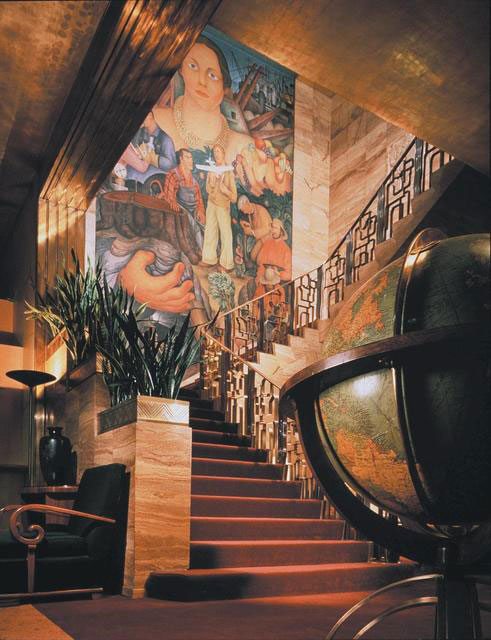 Diego Rivera mural at the City Club of San Francisco