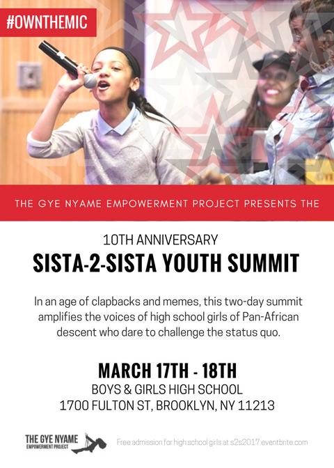 Sista-2-Sista Youth Summit: Own the Mic
