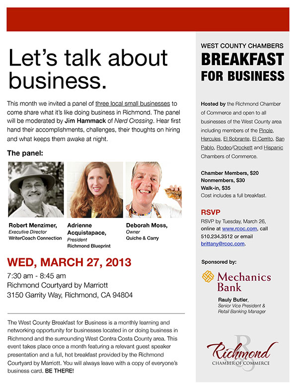 March Breakfast for Business flyer