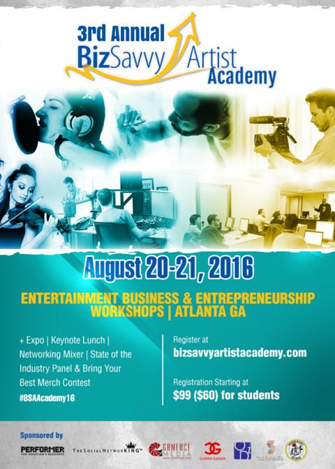 Biz Savvy Artist Academy Flyer