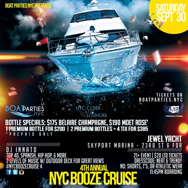 4th Annual NYC Booze Cruise