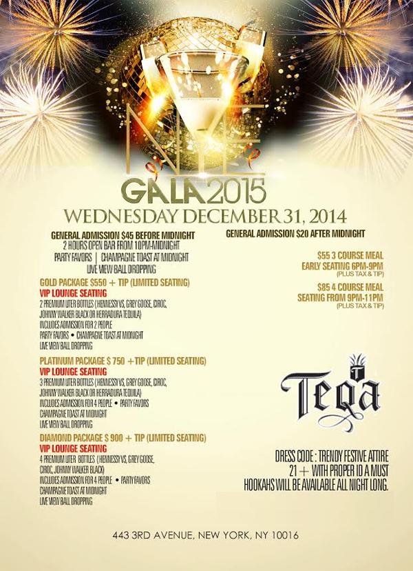 Teqa Lounge New Years Eve