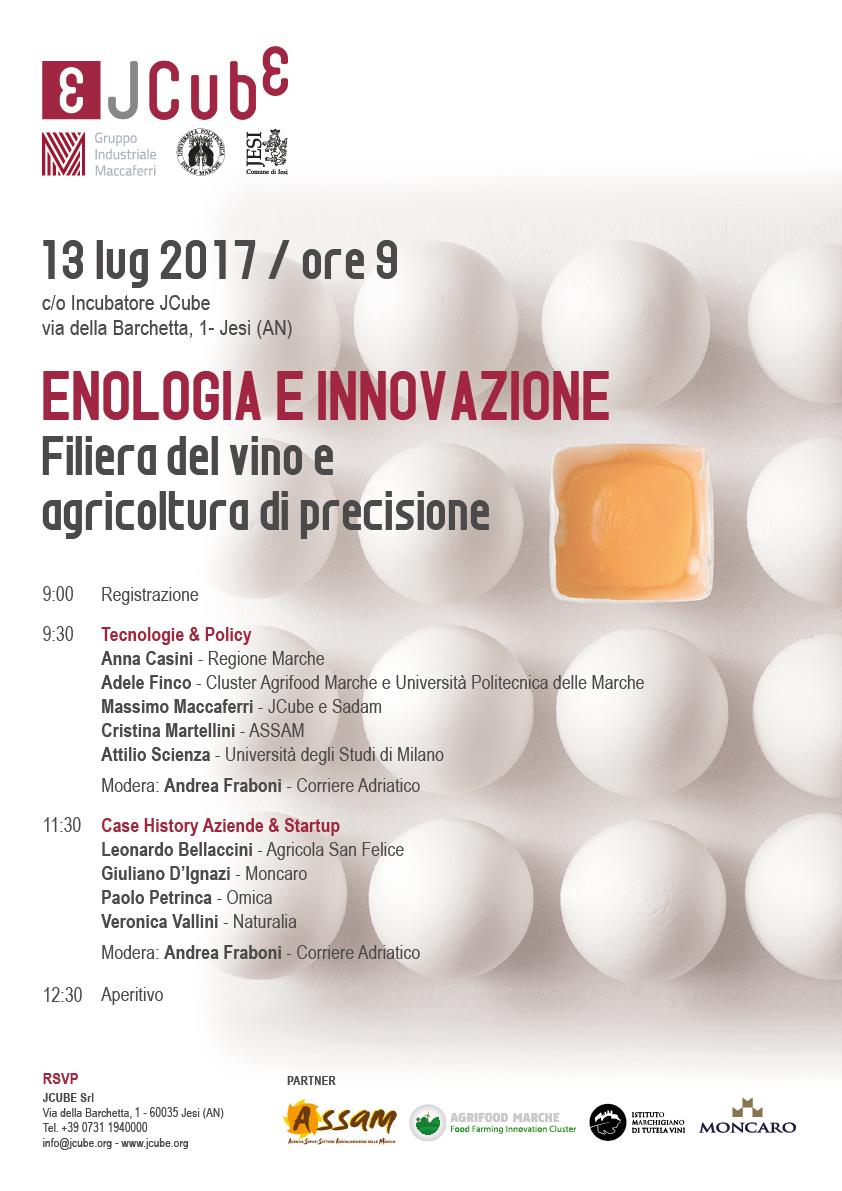 Enologia e Innovazione JCube Luglio 2017