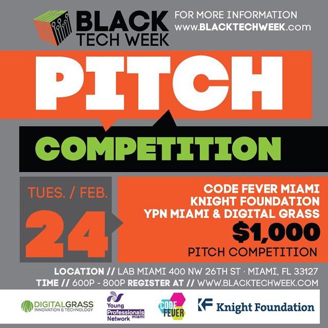 black tech week pitch competition flyer yon