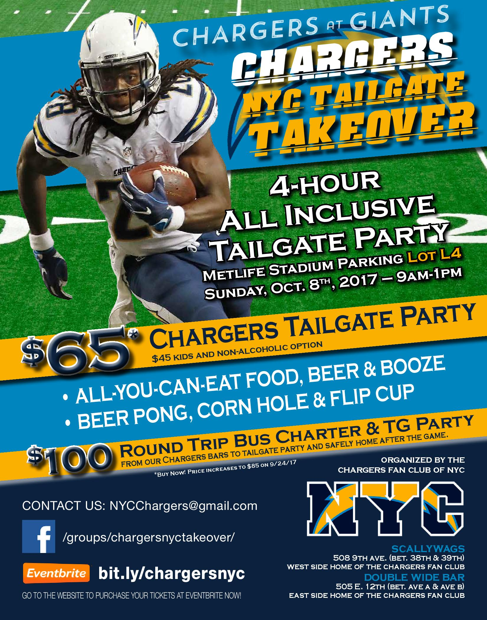 Chargers NYC Takeover