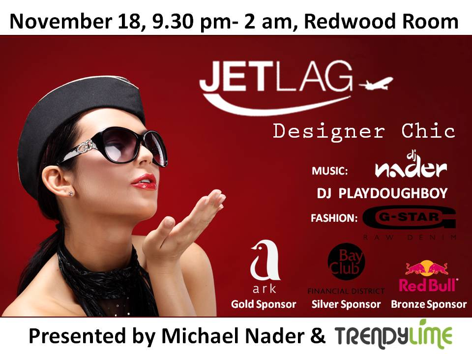JETLAG Designer Chic at Redwood Room by Trendy Lime
