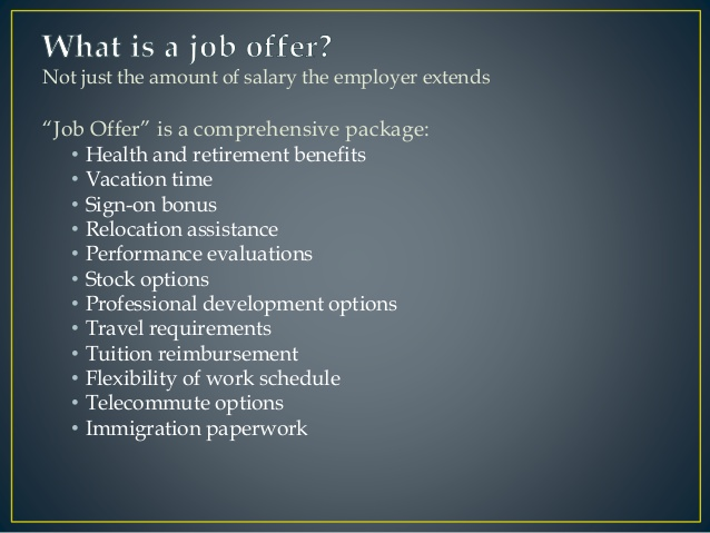 What is in a Salary Offer
