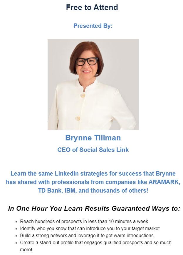 Brynne Tillman of Social Sales Link