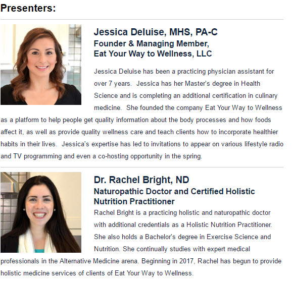 Eat Your Way to Wellness Presenters
