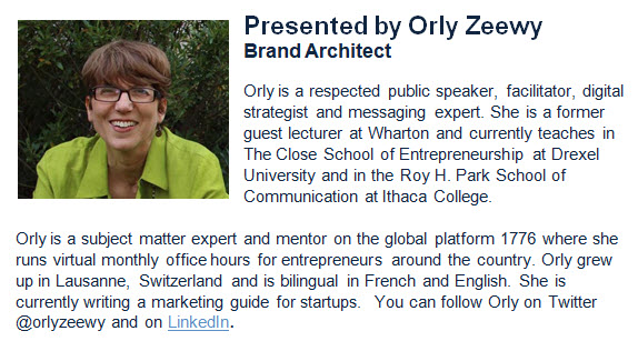 Orly Zeewy, Brand Architect