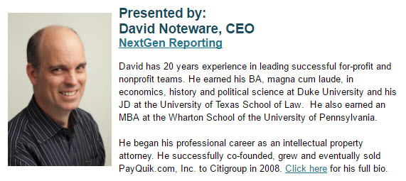 David Noteware, CEO