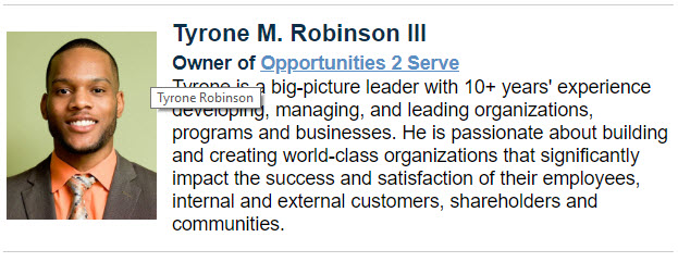 Presenter: Tyrone Robinson III Bio
