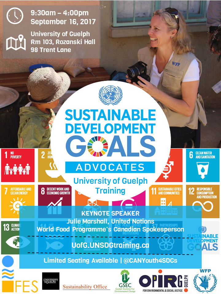 09.16.2017 UofG SDGs Youth Training Poster