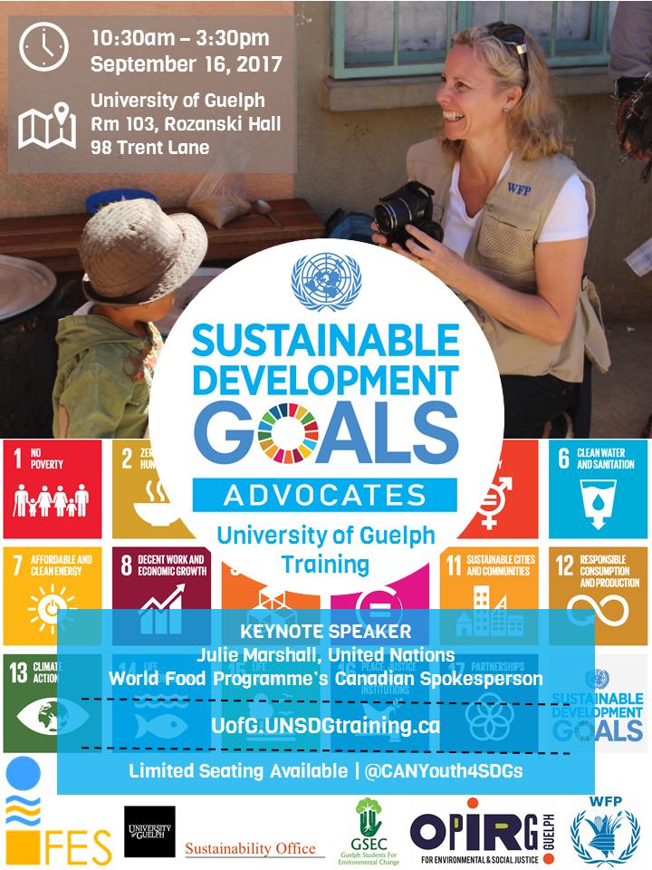 09.16.2017 UofG SDGs Youth Training Poster