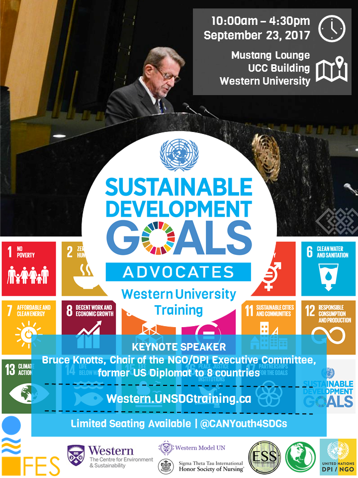 09.28.2017 Western SDGs Youth Training Poster