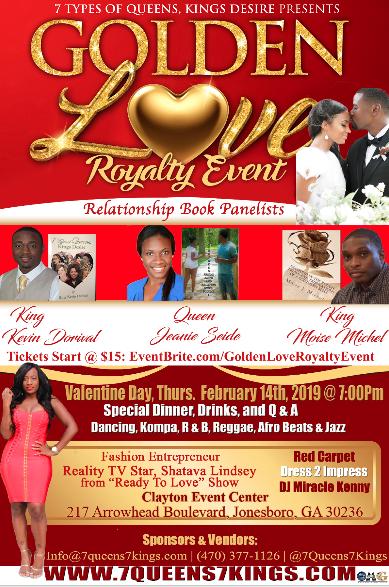 Valentine Day Golden Love Event
