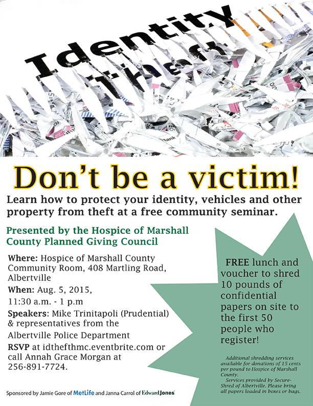PGC ID Theft Flyer