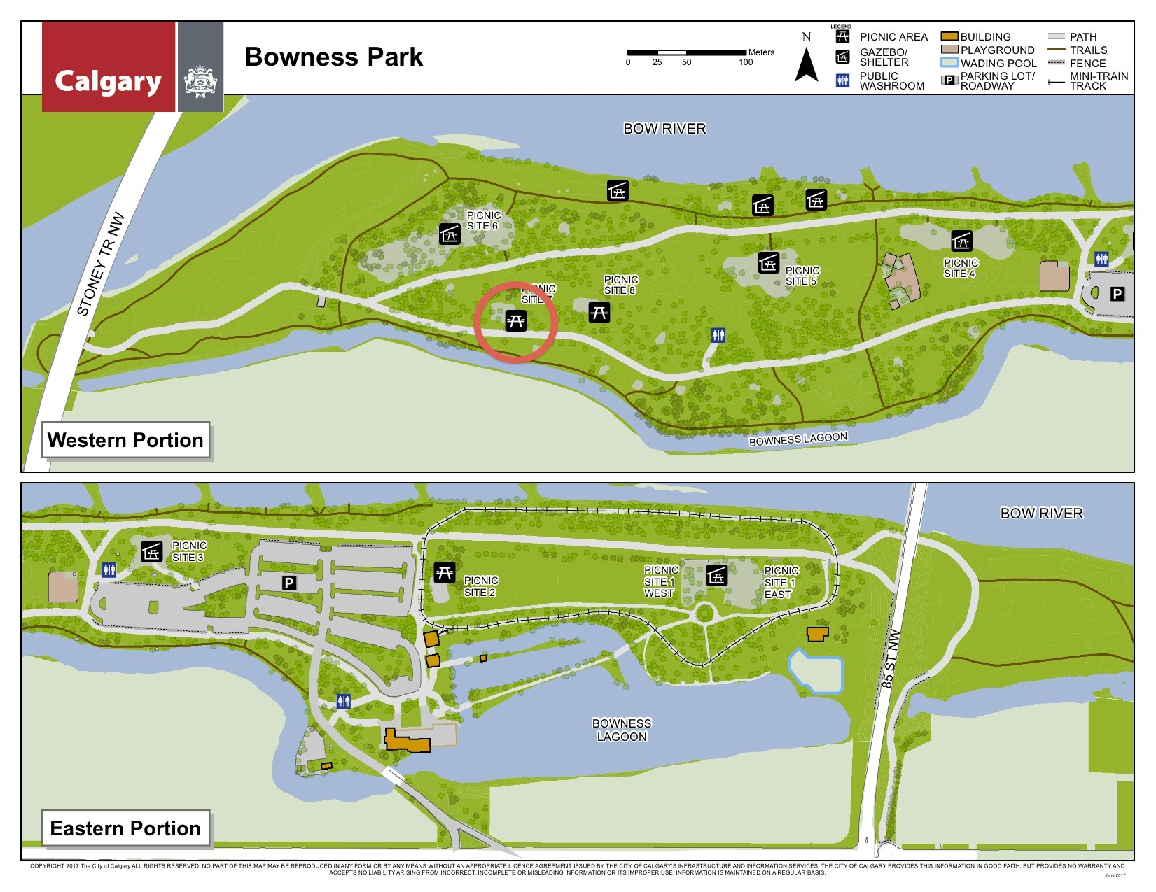 Bowness Park Map