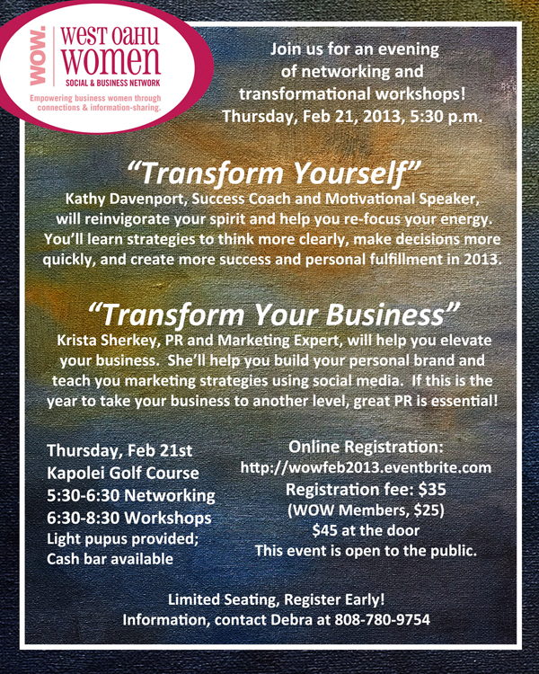 Transform Yourself. Transform Your Business.
