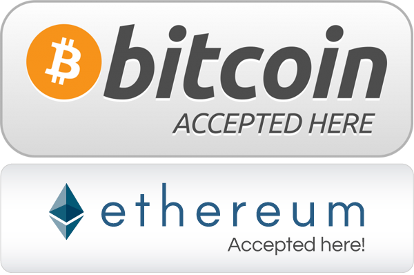 Bitcoin and Ethereum Accepted Here