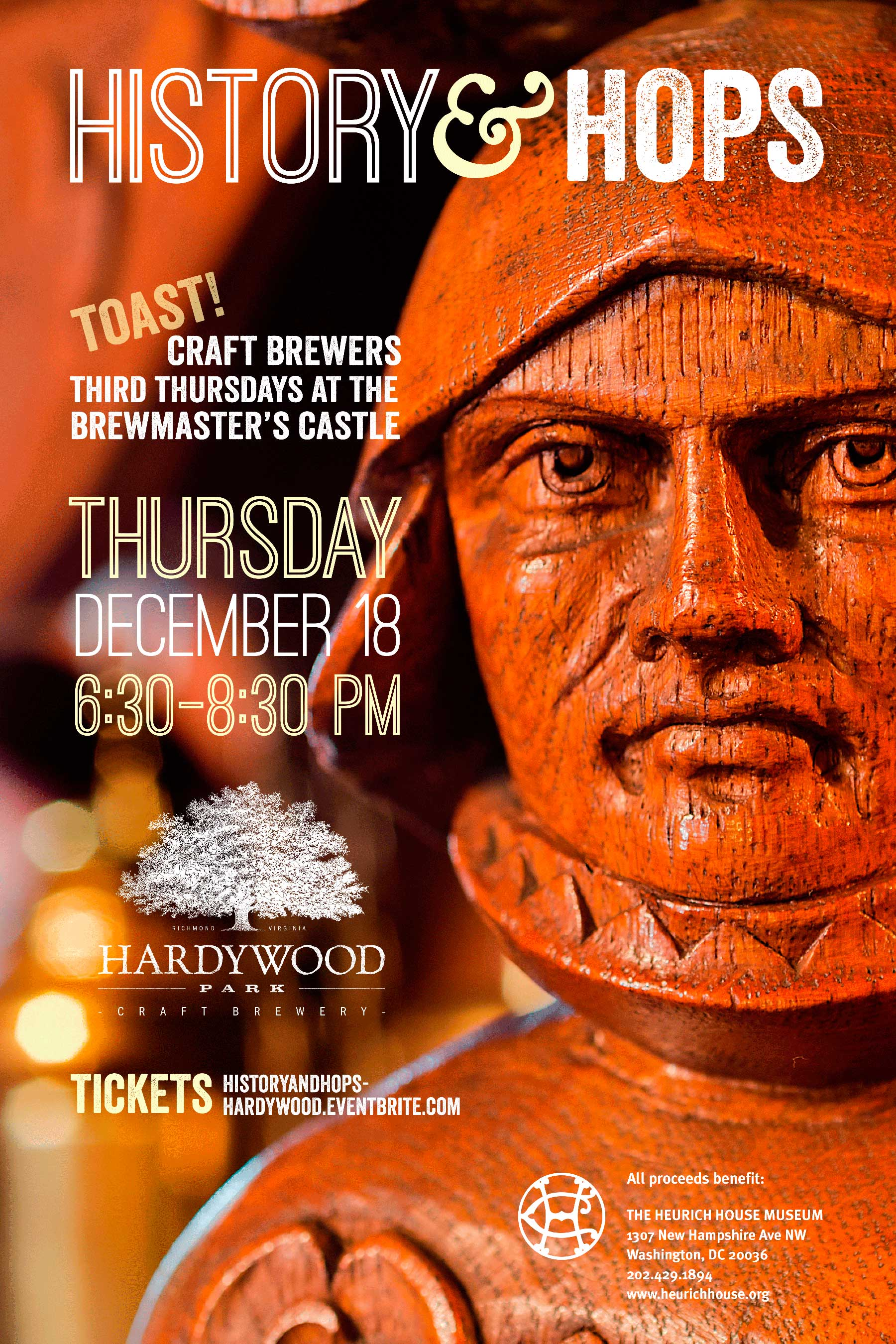 History & Hops featuring Hardywood Park Craft Brewery