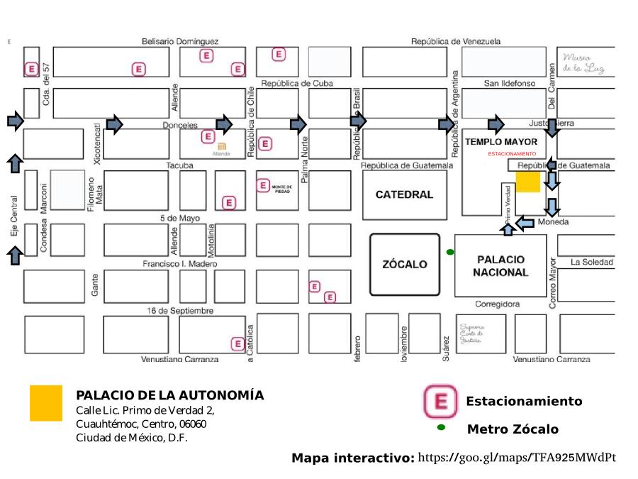 Mapa Palacio Autonomia
