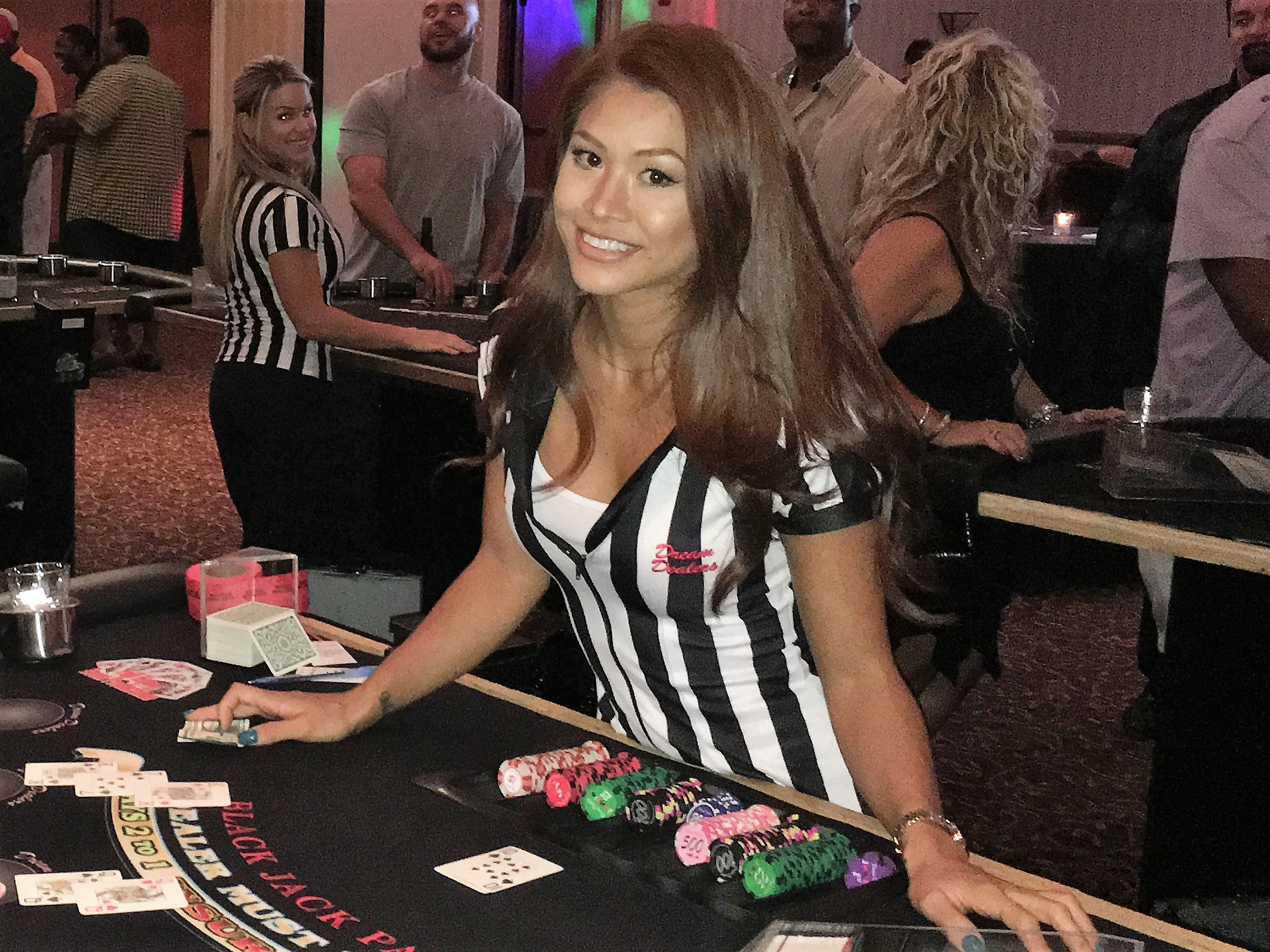 The Dream Dealers offer casino quality tables and the best dealers in the business!