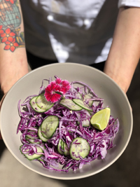 Cabbage, cucumber & coriander salad