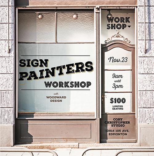 sign painter workshop